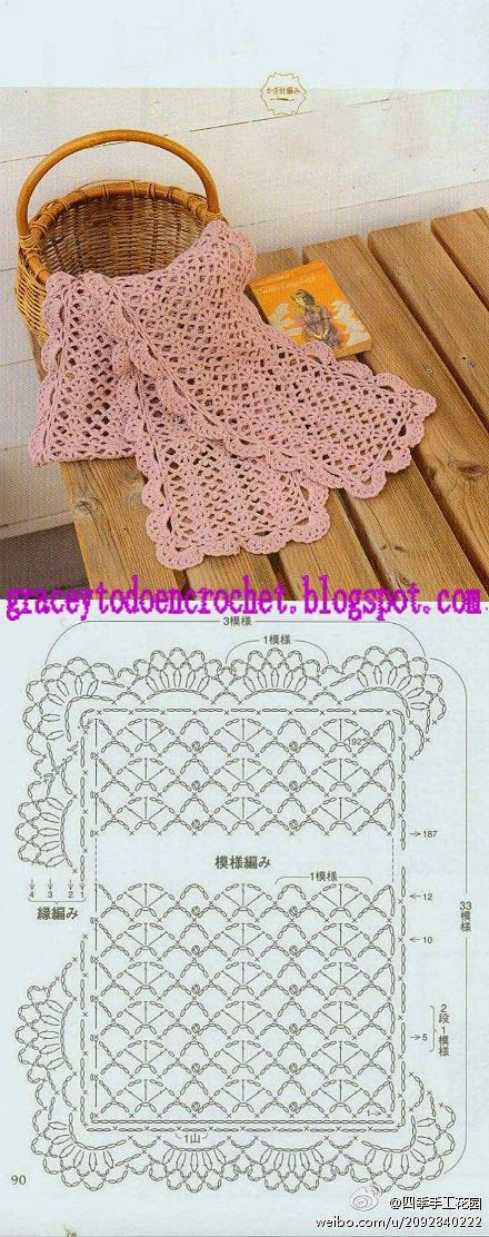 196 best Crochet cuellos, bufandas, guantes y mitones images on ...