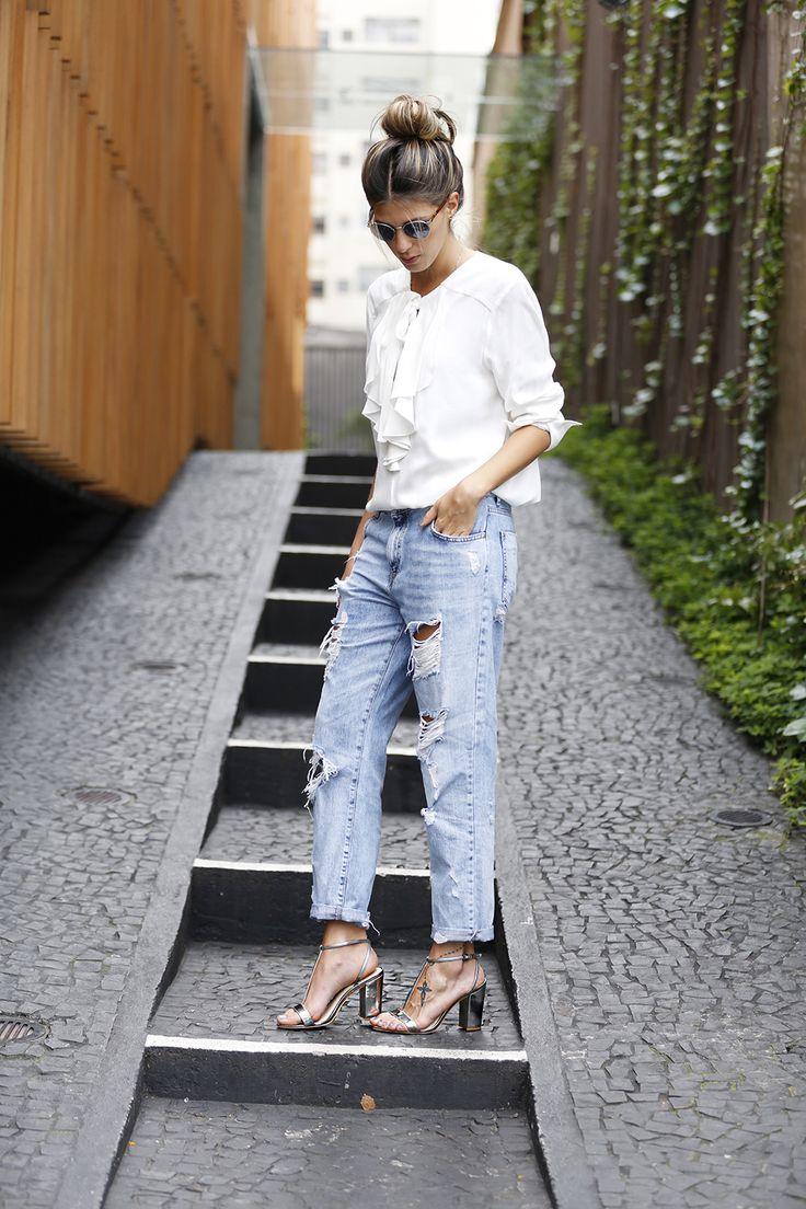 Look do Dia Jeans Boyfriend e Salto Alto anna fasano ( eu trocaria a sandália por outro modelo de salto)