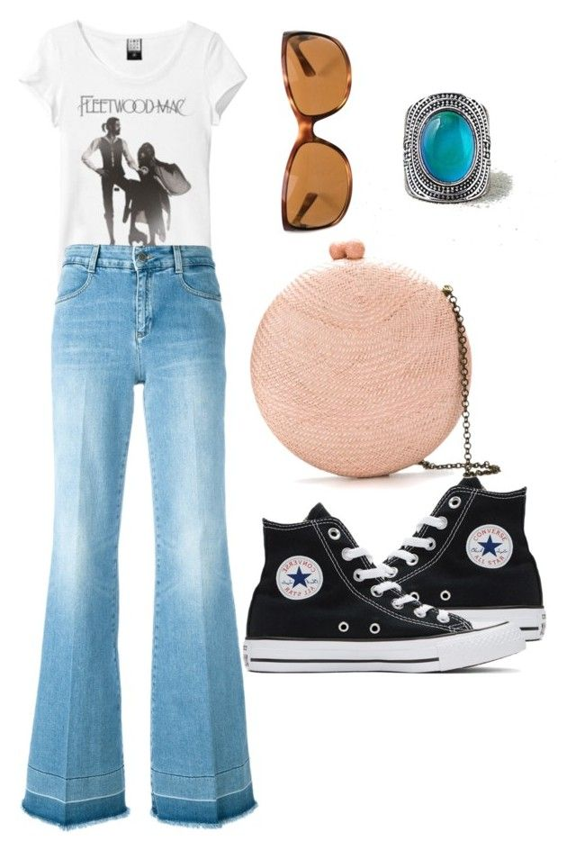 """""""70s Nostalgia"""" by catgirl0217 ❤ liked on Polyvore featuring Converse, Serpui, STELLA McCARTNEY, American Eagle Outfitters and Prada"""