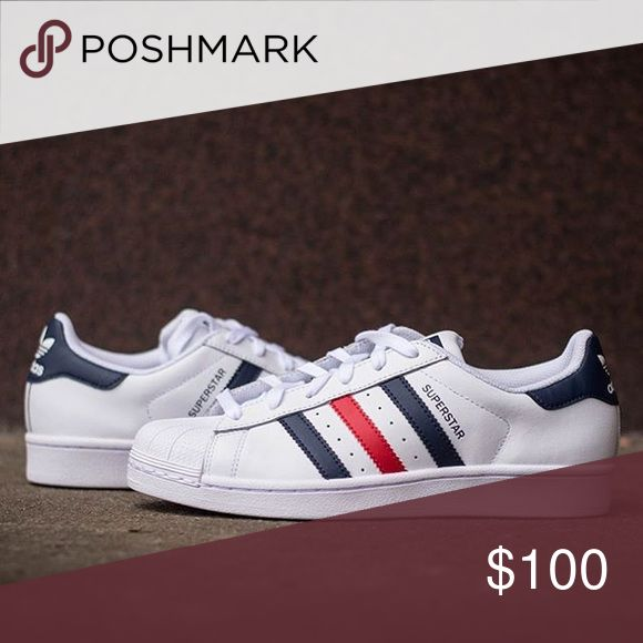 ISO Adidas Superstar French Edition Looking for these! Please let me know if you have them :) I'm looking for a size 5.5 or 6 in men's :) Shoes