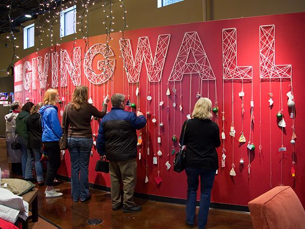 Every year, for Christmas, the church I attend (http://newliferenton.com) sets up a display in the main lobby typically made up of two Christmas trees covered in 300 tags with unique gift suggestions on each one. Church members then take the tags, purchas…