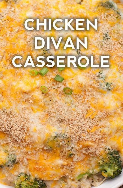 Chicken Divan Casserole Mealtime Food In 2018 Pinterest