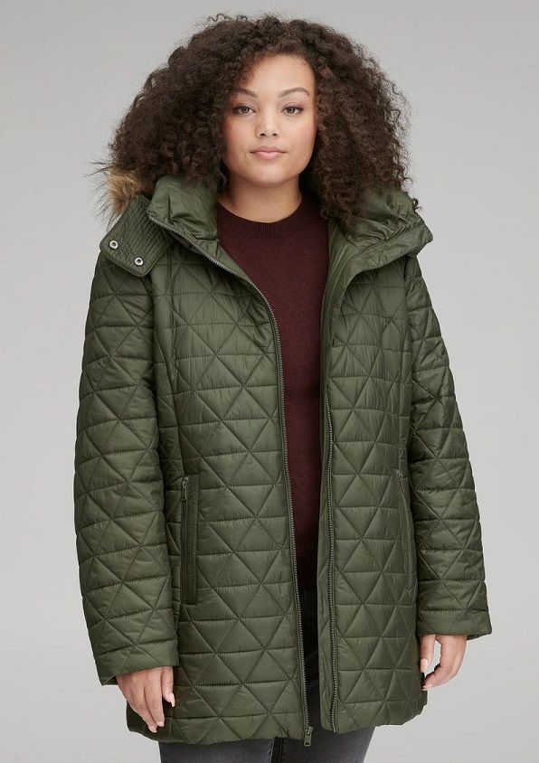 Andrew Marc New WT NAVY Women/'s Warmth Down Winter Jacket Fox trim hood size M