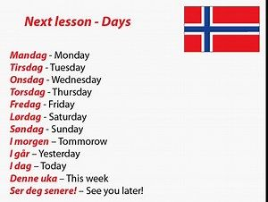 days of the week in norwegian - Search Yahoo Search Results
