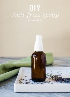 DRY HAIR REPAIR: DIY Anti Frizz Spray + Moisturizing Mask | HelloNatural.co