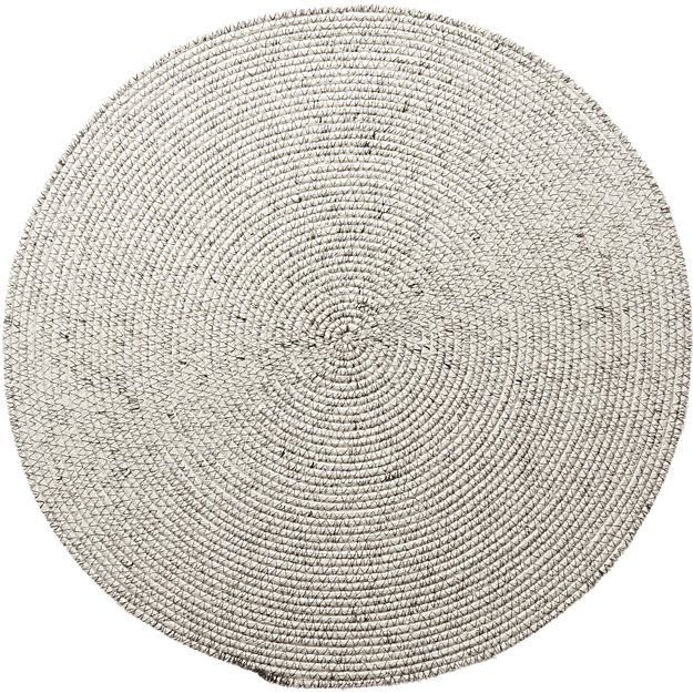 Round Woven Black Placemat Reviews Cb2 Modern Placemats Placemats Woven