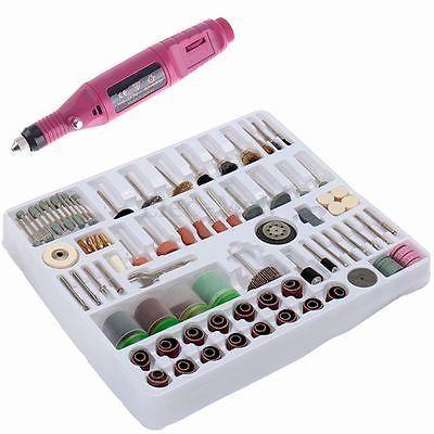 216 pcs Mini Rotary Power Drill Hobby Tool Accessory Kit Fits Dremel Multi Tools