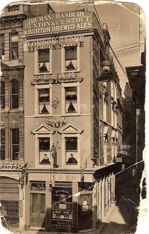 London Stone, 109 Cannon Street EC4 - c 1930s  #RePin by AT Social Media Marketing - Pinterest Marketing Specialists ATSocialMedia.co.uk