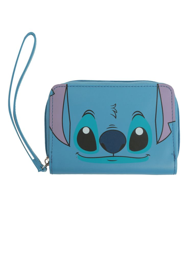 Disney Lilo & Stitch Face Zip Wallet | Hot Topic | Lilo ...