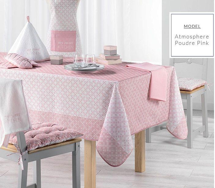 Moderný ružový obrus do jedálne