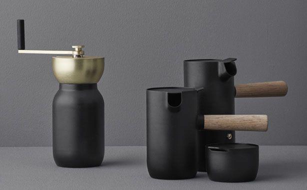 COLLAR cafetière, pot à lait, moulin à café de Stelton