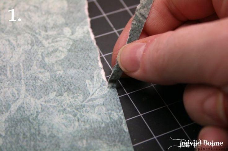 Как сделать рваный край в открытке, любимая