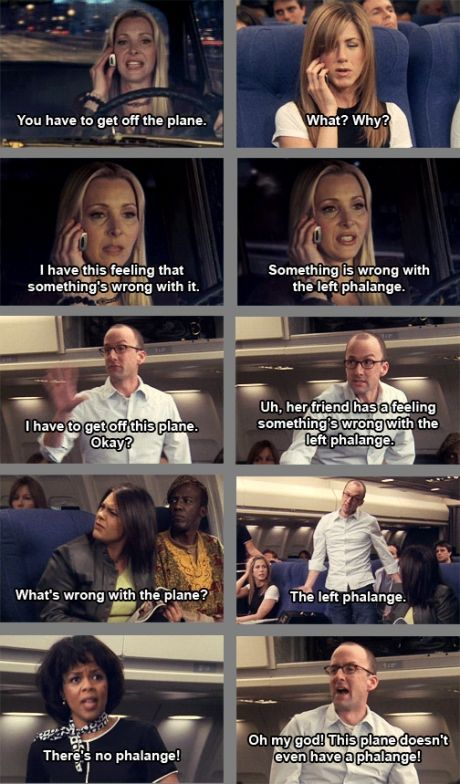 The Dean was on the Plane when Rachel was going to Europe!!! #Friends #Community