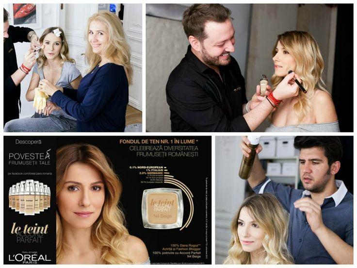Dana Rogoz a descoperit cu ajutorul L'Oréal Paris Romania, al lui Alexandru Abagiu si a unui test ADN nuanta perfecta de fond de ten Le Teint Accord Parfait pentru pielea sa. #lorealparis #beautydistrictsalon #makeup #makeup