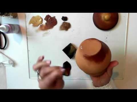 Горшочек для меда.Роспись - YouTube