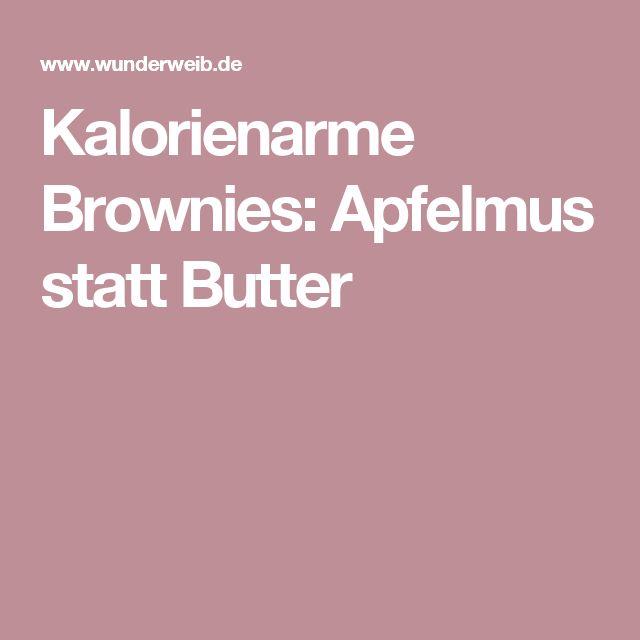 Kalorienarme Brownies: Apfelmus statt Butter