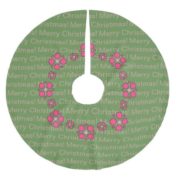 Circles Brushed Polyester Tree Skirt #christmas #treeskirts #xmas #tree
