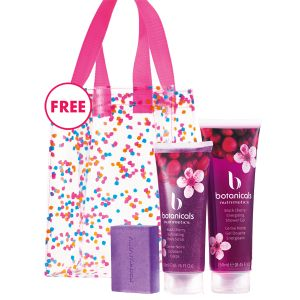 Black Cherry Botanicals Set  Just $25.00 + FREE 'Confetti' Bag