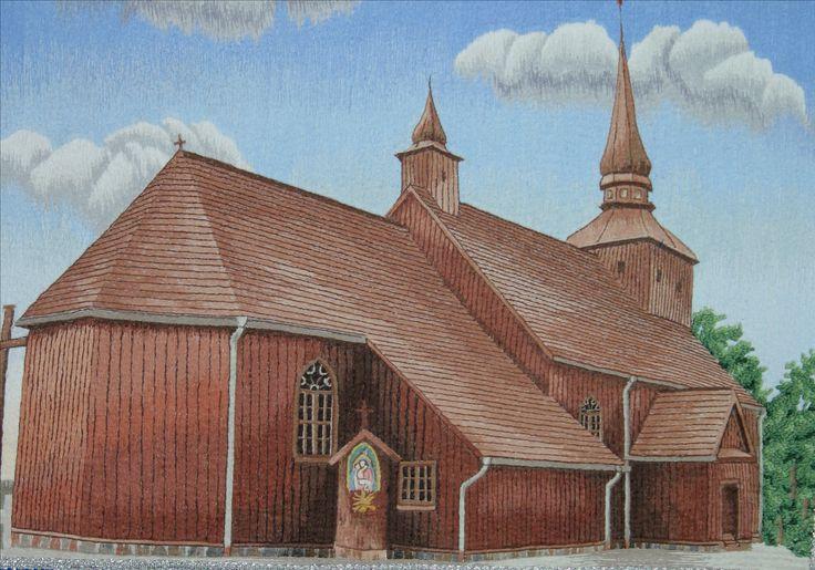 Haft: Kościół w Borzyszkowach