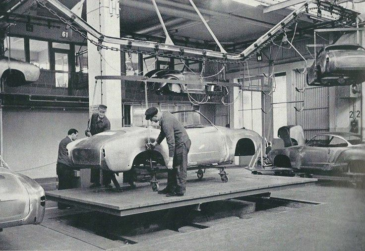 c.1960 VOLKSWAGEN KARMANN GHIA PRODUCTION LINE - Wilhelm Karmann GmbH, Osnabück, Germany.