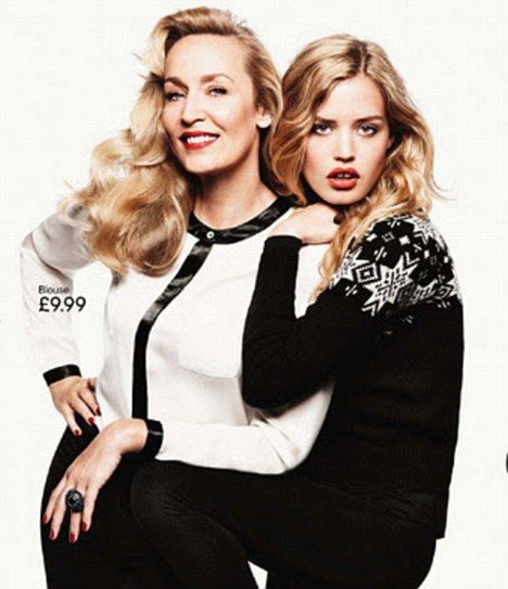 Jerry Hall models with stunning daughter Georgia May for H&M's latest campaign