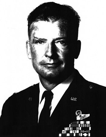 Valor awards for COL William Atkinson Jones III (1922-1969) USAF. Medal of Honor (posthumously) for conspicuous gallantry and intrepidity in action at the risk of his life above and beyond the call of duty near Dong Hoi, North Vietnam, on 1 September 1968. Additional awards include the Distinguished Flying Cross, Purple Heart, Air Medal w/three Oak Leaf Clusters. Read an excellent article at westpointaog.org/memorials/article/14654