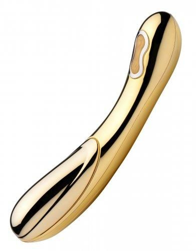Inmi D-Oro is an exquisitely crafted and opulent pleasure toy, lavishly crafted from 24 karat gold plate and featuring a powerful motor that offers delicious warmth and sensuous vibration. Let the chill of real gold send shivers of anticipation across your skin, then feel yourself melt as D-Oro quickly warms against you. Let the gently curved shaft glide all over your body as you indulge in extravagant bliss.