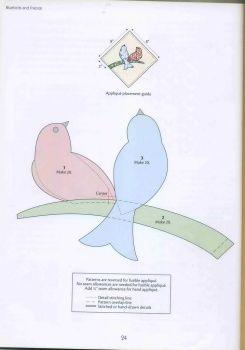 Birds appliqué pattern