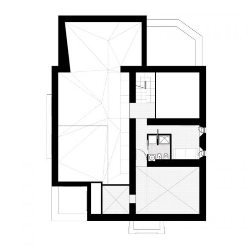 ia Mecenate  Renovation of an apartment in an Art Deco Pavilion in Rome_ceiling plan project by Scape