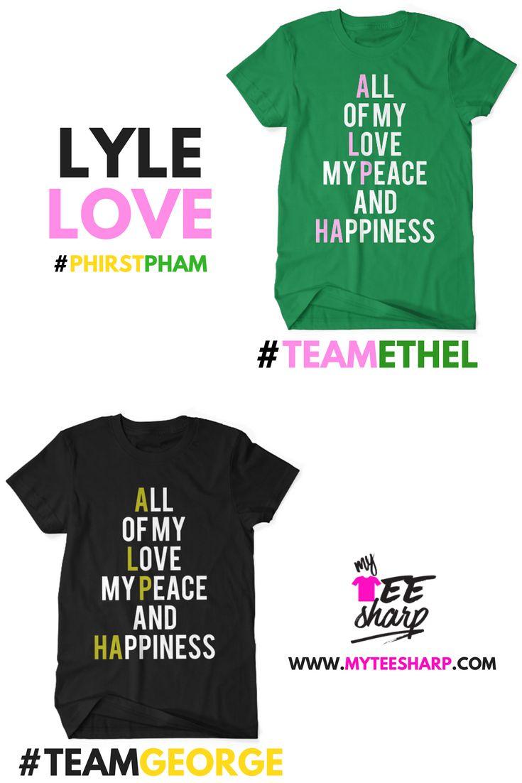 18511be3 Lyle Love...Are you #teamethel or #teamgeorge? www.myteesharp.com… | Future  fam in 2019 | Alpha kappa alpha, Alpha kappa alpha sorority, Alpha phi alpha