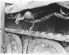 Wehrmacht tank commander - killed in his panzer