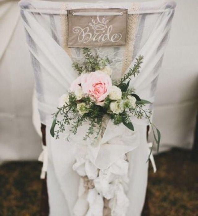 Decoracion de boda para las sillas