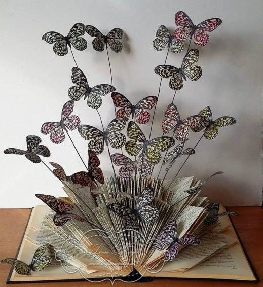 Visible Image stamps - Butterflies - Book Folding Sculpture - Teresa Morgan