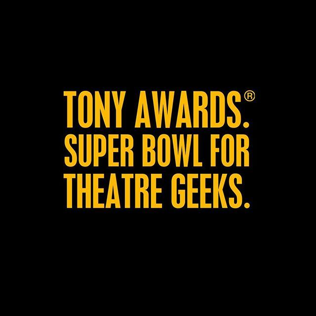 It's almost time to get your geek on!! #tonyawards #hamiltonmusical #brightstarmusical #schoolofrock #shufflealong #repeatattenders #americantheatrewing