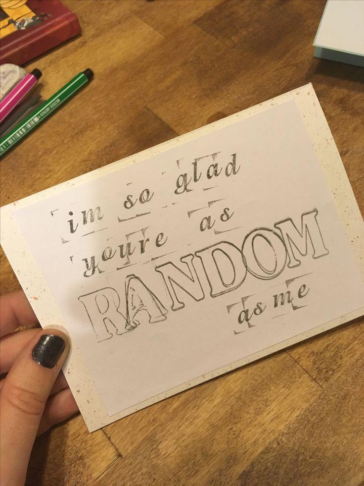 I'm so glad you're as random as me, valentines day, card, diy, simple, stamp, ystävänpäivä, kortti, leimasin,