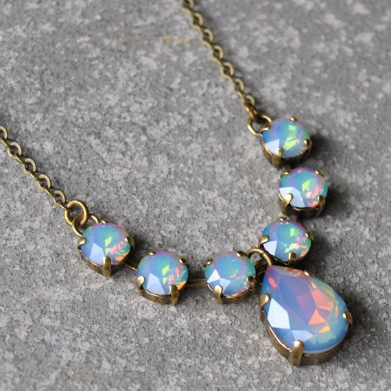 Hey, I found this really awesome Etsy listing at https://www.etsy.com/listing/208200596/opal-rainbow-necklace-swarovski-crystal