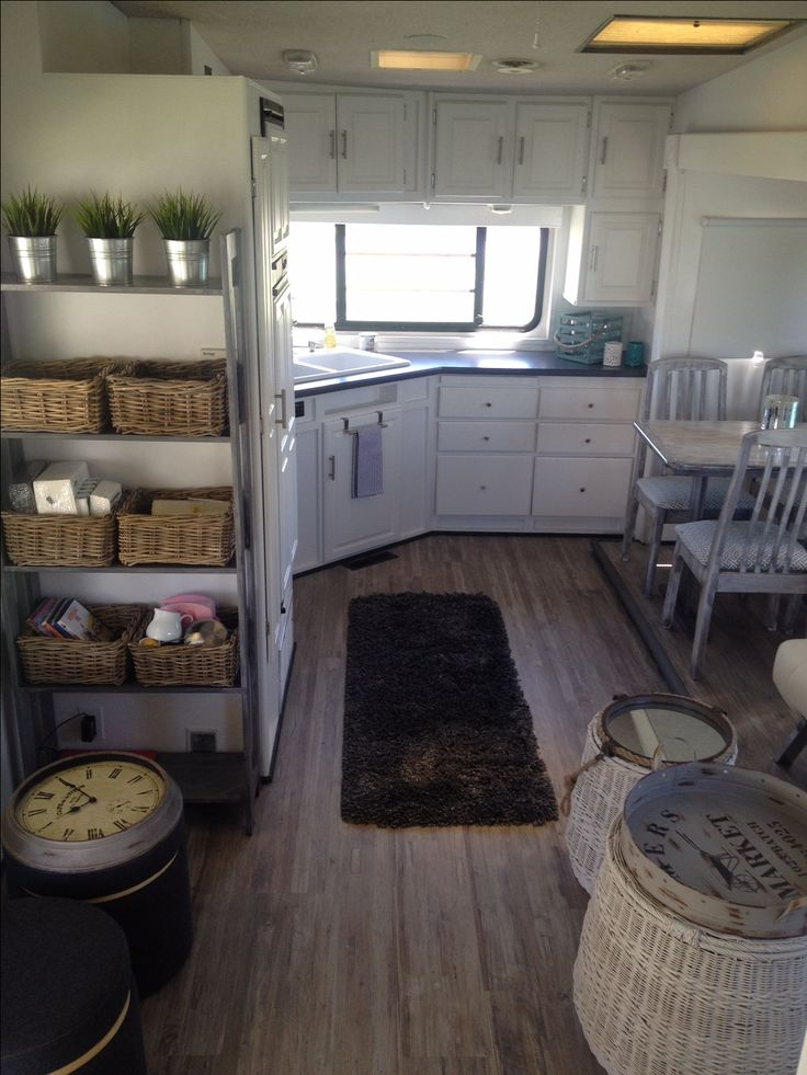 Rv Countertop Options : painted, countertop replaced & vinyl flooring installed Camp/RV ...