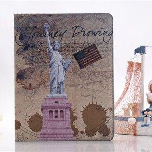 Δερμάτινη θήκη Retro Άγαλμα της Ελευθερίας για iPad mini  ..με μονο 28,50€ !!