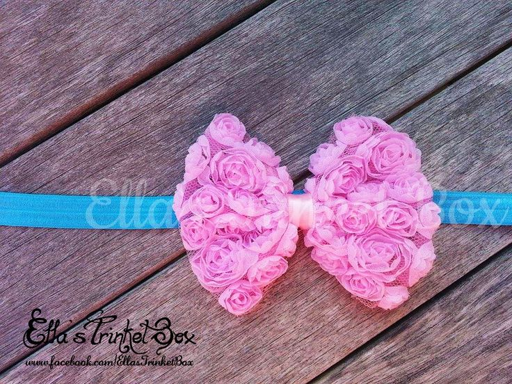 Pink & Blue Rosette Headband ♡  Find it at https://www.facebook.com/EllasTrinketBox