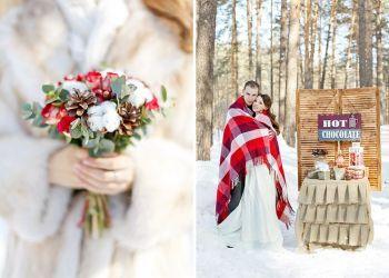 Winter wedding bouquet. Зимняя свадьба