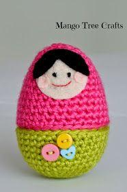 Crochet babushka doll