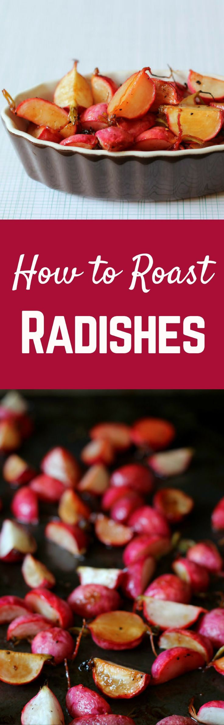 How to Roast Radishes on http://RachelCooks.com