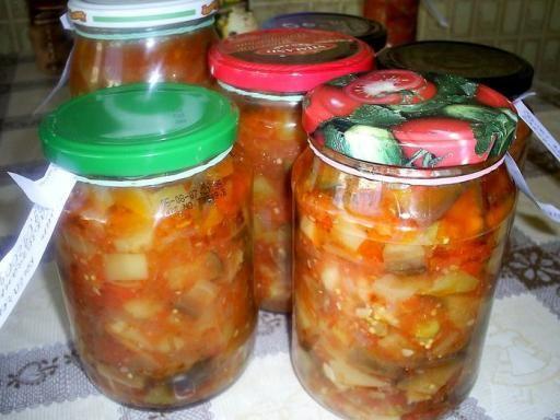 Домашнее консервирование салатов с зеленых помидор