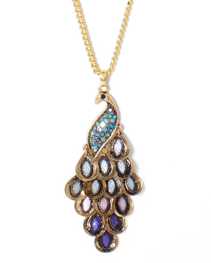 charming charlie | Pretty as a Peacock Necklace | UPC: 450900327804 #charmingcharlie