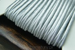 Sznurek Sutasz PEGA - srebro metalizowane [1 metr] - Skarby Natury - rozwiń swoją pasję