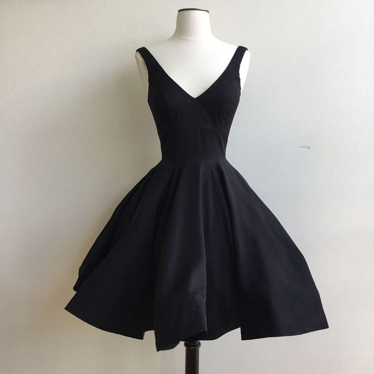 Homecoming Dress,black party dresses,women's cocktail dress,graduation dress,vintage swing dress,Elegant Party Gowns