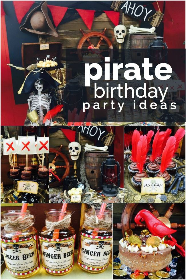 Classic Pirate Birthday Party Ideas