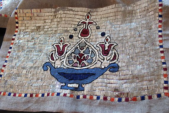 Turkish embroidery art Table Runner Home Decor by TurkishHome