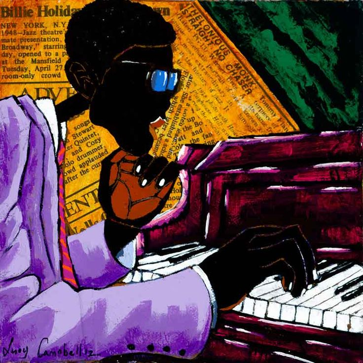 leroy campbell artwork | Next Song, 2012 Mixed Media, Acrylic on Canvas 6 x 6 800.00 SOLD