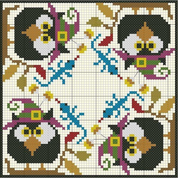 Biscornu Owls